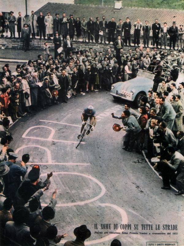 Велосипедная реклама, Фаусто Коппи, Тур дэ Франс