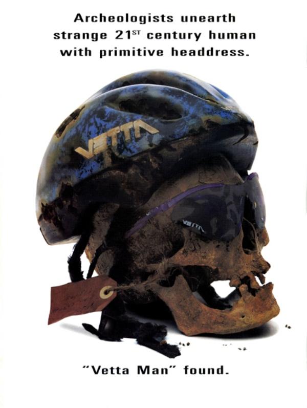 Реклама велосипедных  шлемов Vetta