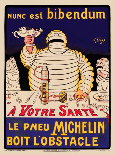 Велосипедная реклама. Michelin. Бибендум