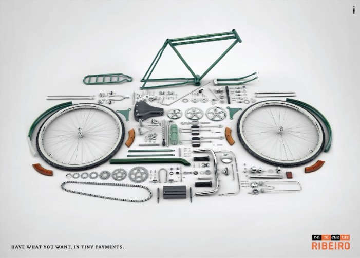 велосипед разобранный