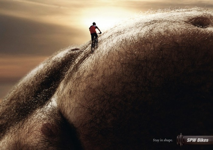 Велосипедная реклама. Поддерживай форму
