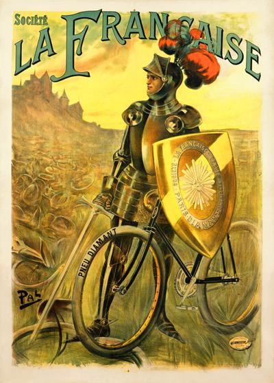 Велосипедная реклама, рыцарская тематика