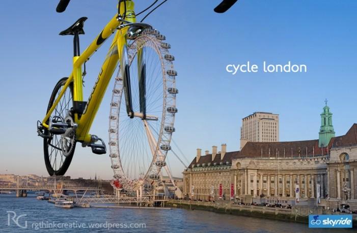 Реклама велосипедного передвижения по Лондону