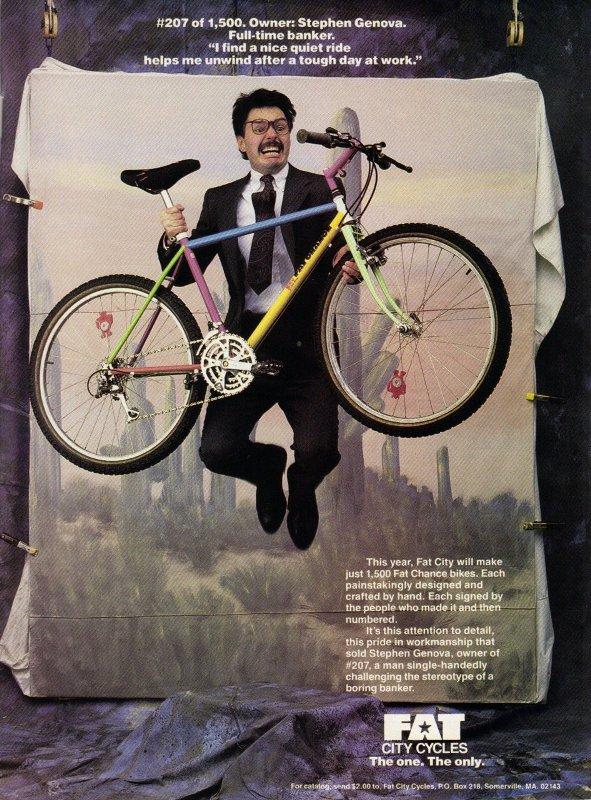 Счастливый обладатель велосипеда