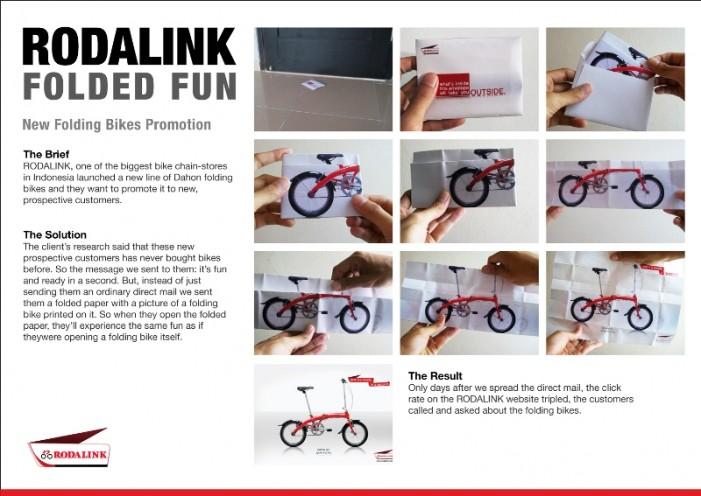 реклама складного велосипеда