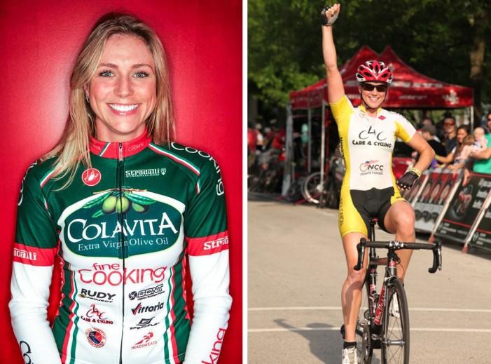 Велосипедистка Erica Allar