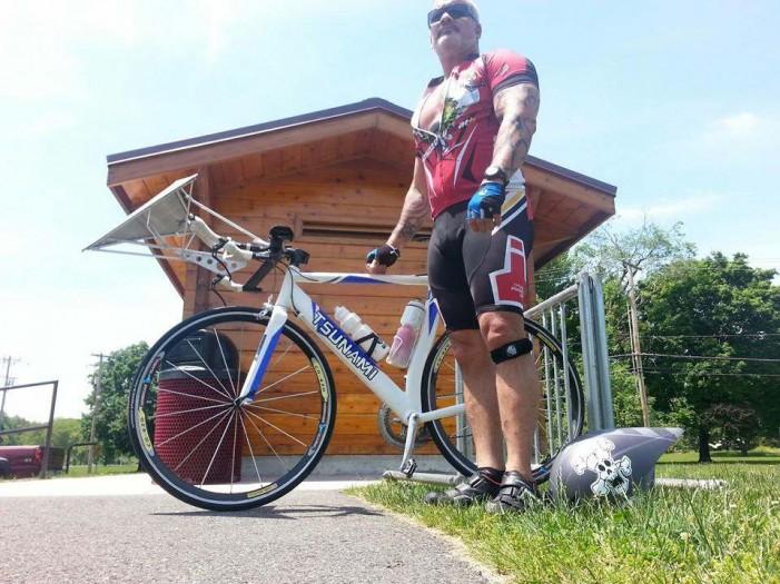 60 миль в час на велосипеде