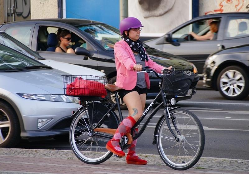 стиляга на велосиеде