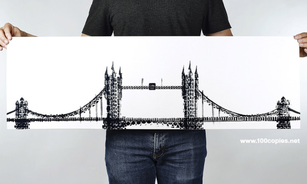 Лондон, новое искусство печати интерпретацию лондонского Тауэрского моста