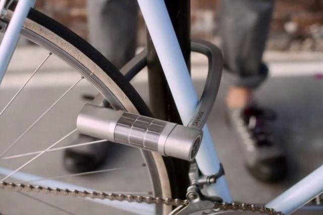 Велосипедный замок на солнечной батарее