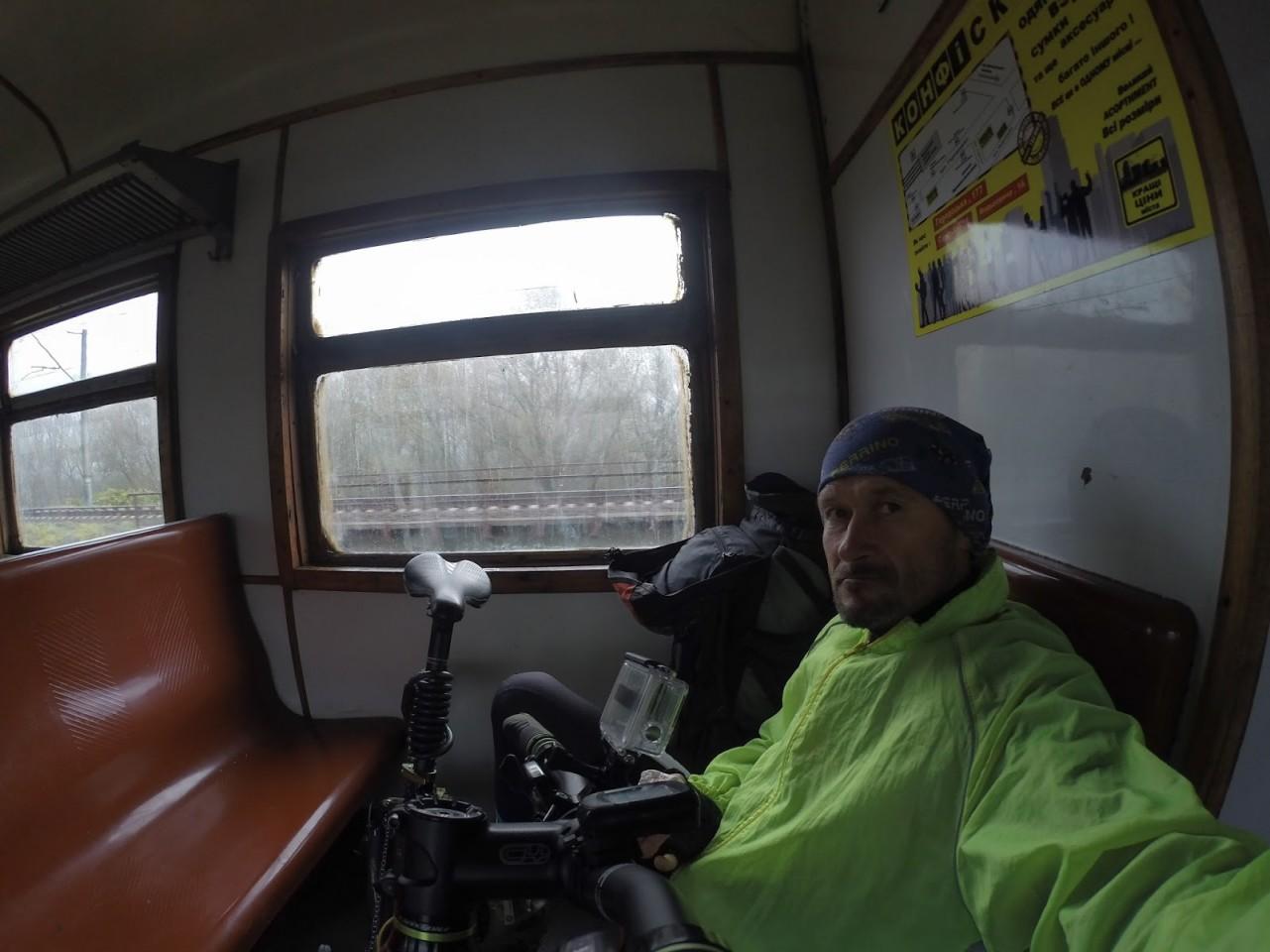 Велосипедист Юрий Заика