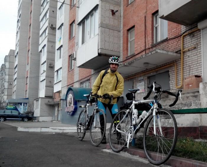 Серж с велосипедом
