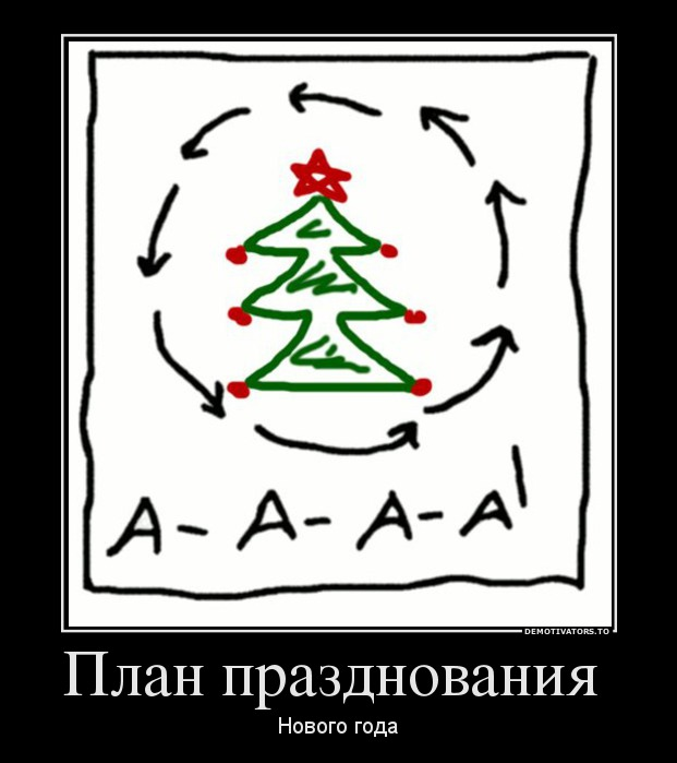 план встречи нового года