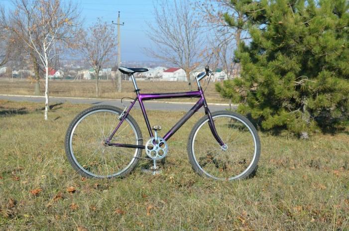 велосипед сиреневый