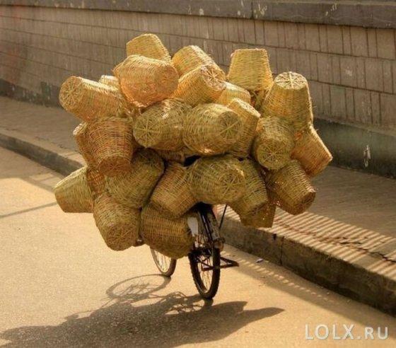 перевозимый на велосипеде груз