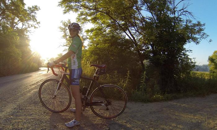 на велосипеде 100 км