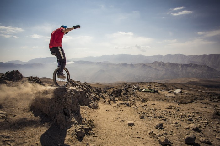 Downhill Unicycling Mount Damavand Iran