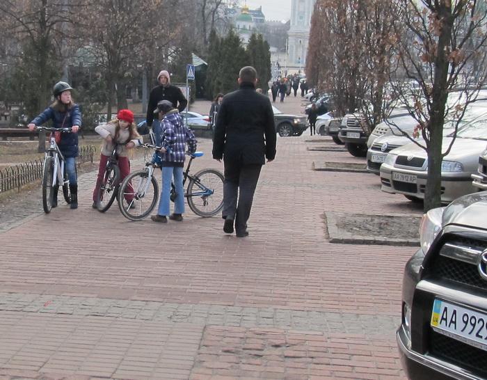 Киев, велосипедисты