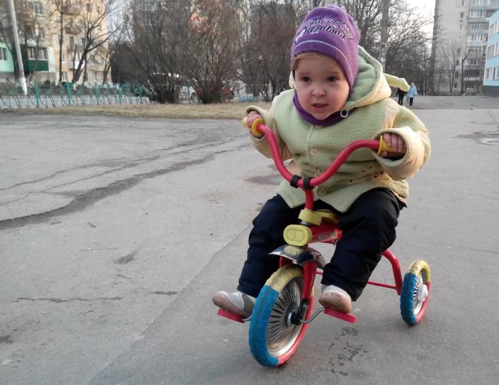 Веда на велосипеде