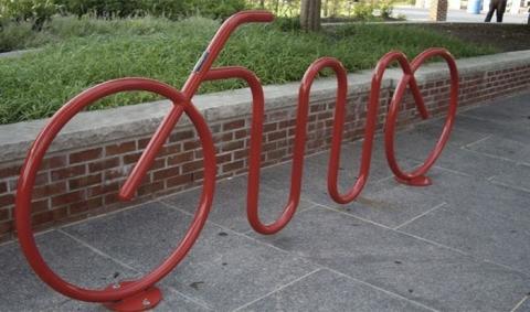 в форме велосипеда