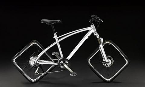 квадратные колеса велосипеда