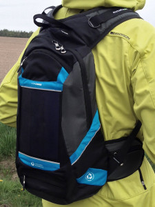 Solargenome Hydracharge —правильный велорюкзак. Гидратор, велорюкзак и солнечная зарядка для гаждетов и виджетов