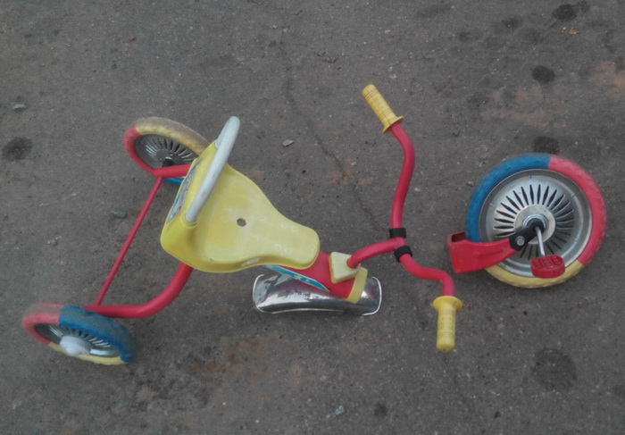 Отвалилась передняя вилдка велосипеда