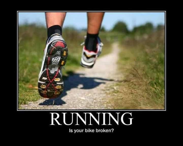 Сломался велосипед,Беги,бег,велосипед,демотиватор,мотиватор