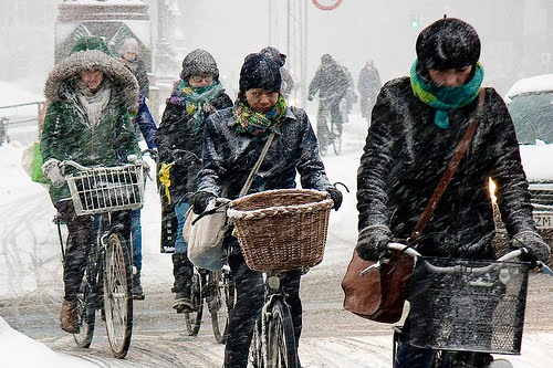 зима на велосипеде