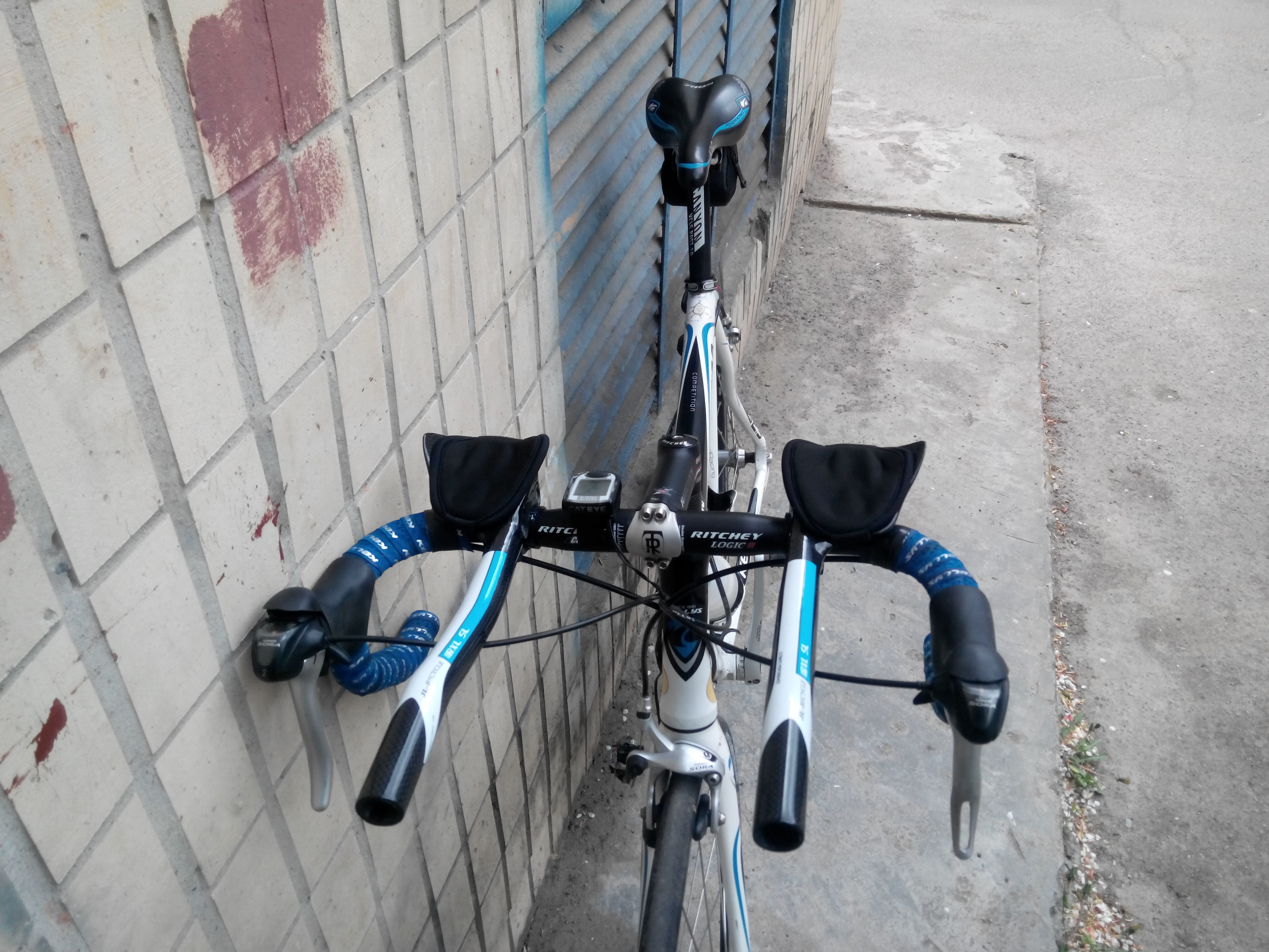 Лежак на руль велосипеда