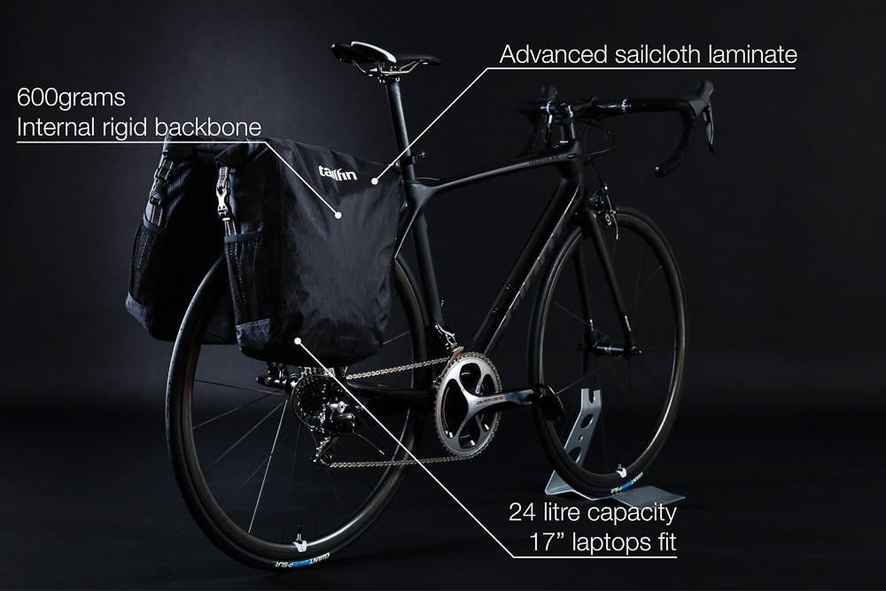 Ultra-light carbon bike rack & panniers