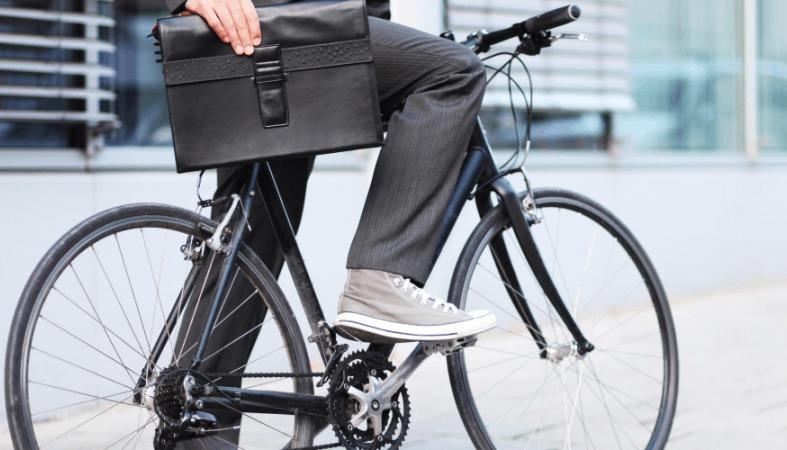 на работу, на велосипеде,стресс