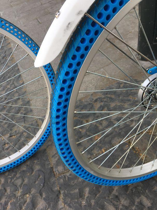 Безвоздушные велосипедные шины, которые не надо накачивать
