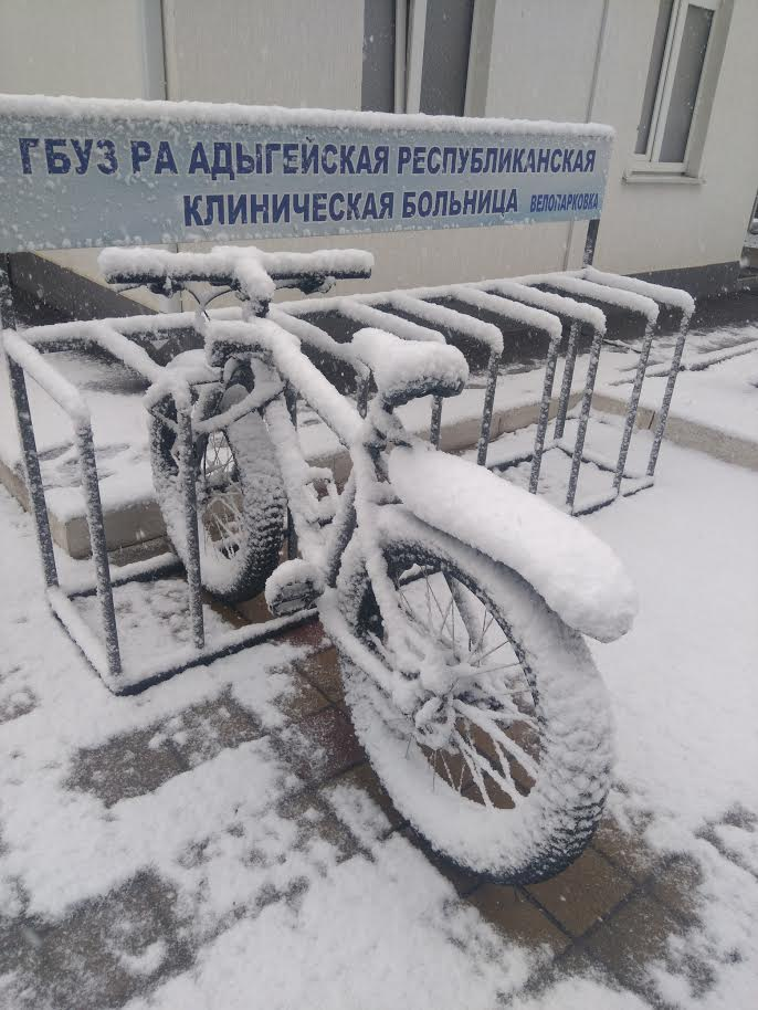 Зимний фэтбайк
