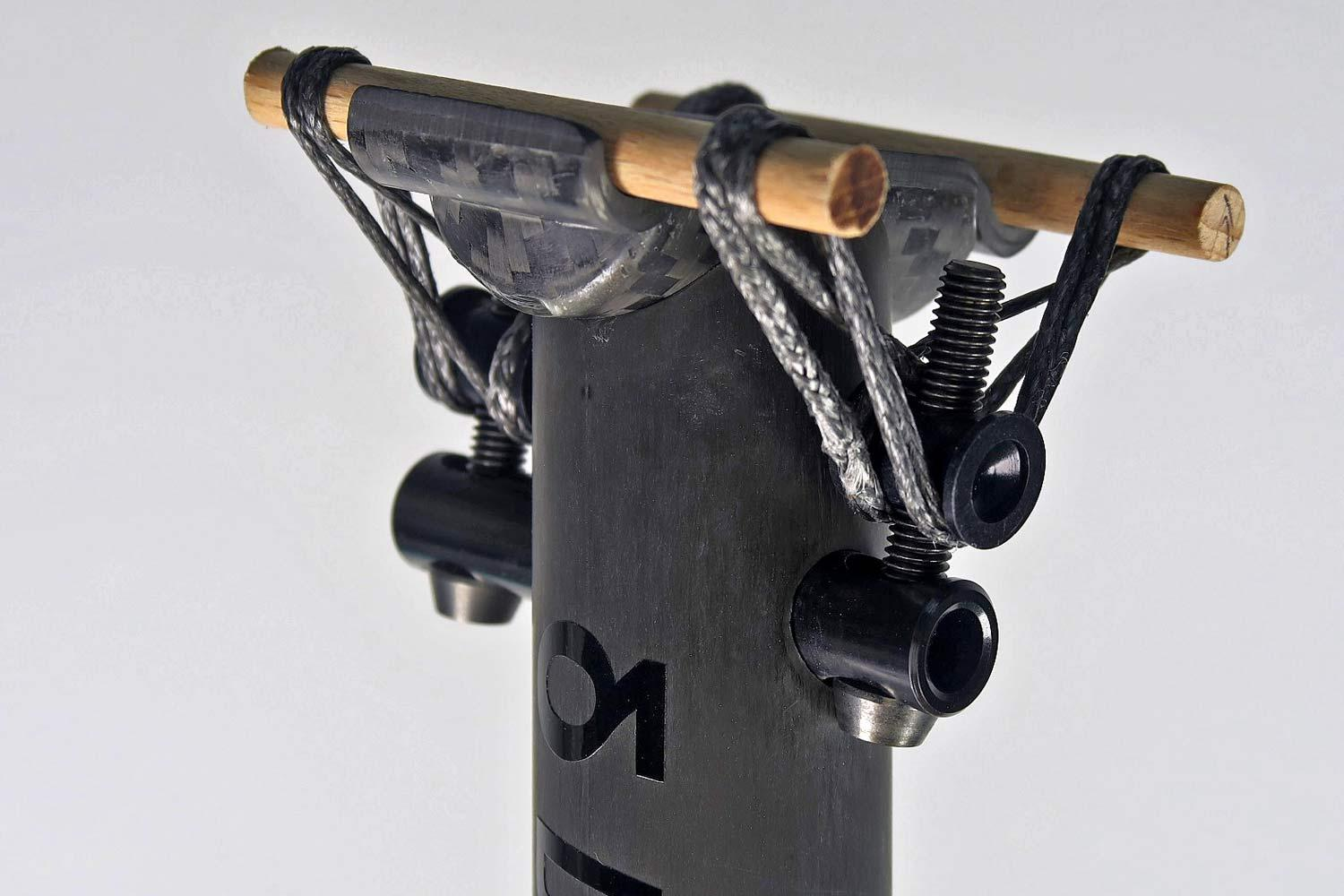 Darimo-T1-Loop-seatpost_ultralight-lightweight-dyneema-fiber-rope-saddle-clamp-carbon-seatpost_head-detail