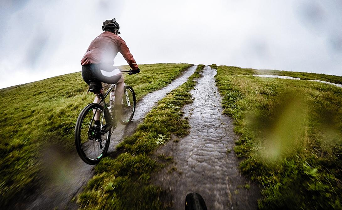 На велосипеде по полю