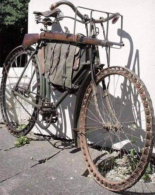 Немецкий велосипед времён первой мировой